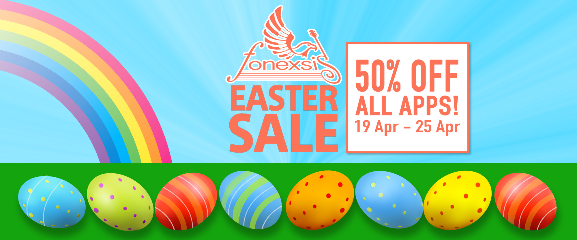 Easter Sale 50% OFF